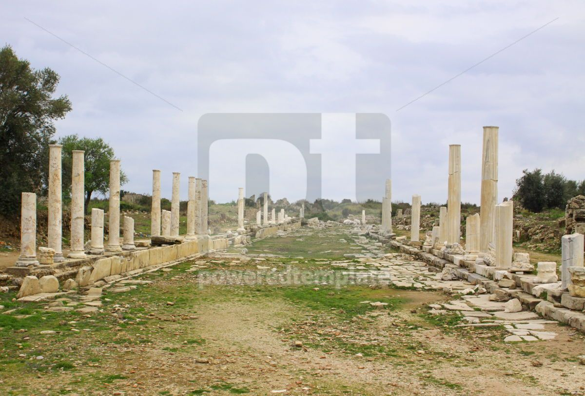Ruins of ancient roman temple in Side Turkey, 07419, Architecture  — PoweredTemplate.com