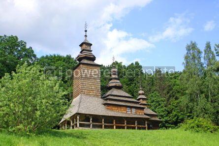 Architecture: Old wooden church in Pirogovo Ukraine #07420