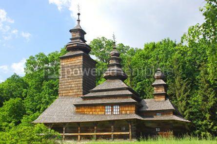 Architecture: Old wooden church in Pirogovo Ukraine #07421