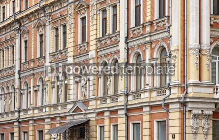Architecture : Fragment of traditional old building in Odesa Ukraine #07424