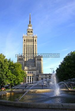 Architecture: Palace of Culture and Science in Warsaw #07425