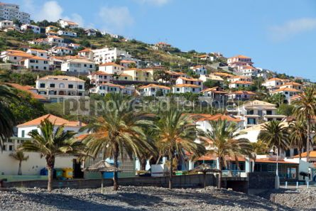 Architecture : Beach in Santa Cruz Madeira island Portugal #07436