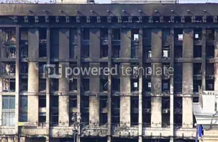 Architecture : Trade Union building in Kyiv aftermath the fire during anti-gove #07442