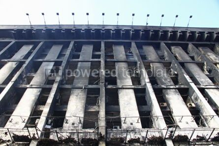 Architecture : Trade Union building in Kyiv aftermath the fire during anti-gove #07443