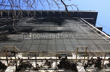 Architecture : Trade Union building in Kyiv aftermath the fire during anti-gove #07444
