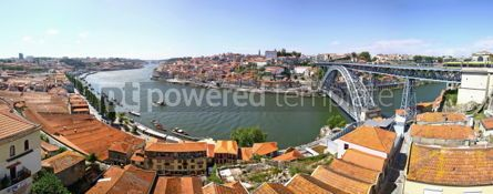 Architecture : Panoramic view of City of Porto Portugal #07450