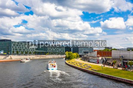 Architecture : Sightseeing boats on the river Spree in Berlin Germany #07457