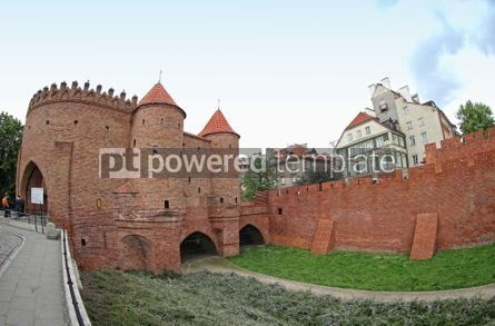 Architecture : Warsaw Barbican semicircular fortified outpost in Warsaw city  #07463