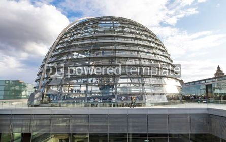 Architecture: Glass dome of Reichstag (Bundestag) building in Berlin Germany #07468