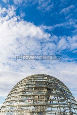 Architecture: Glass dome of Reichstag (Bundestag) building in Berlin Germany #07469