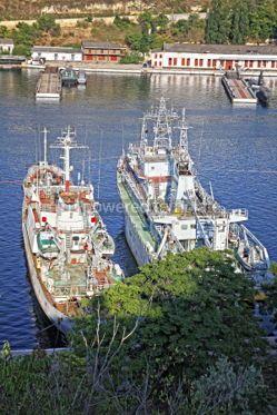 Industrial: Russian Navy warships in Sevastopol Crimea Ukraine #07497