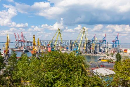 Industrial: Sea port of Odessa Black Sea Ukraine #07499