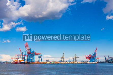 Industrial: Port of Hamburg on the river Elbe Germany #07501