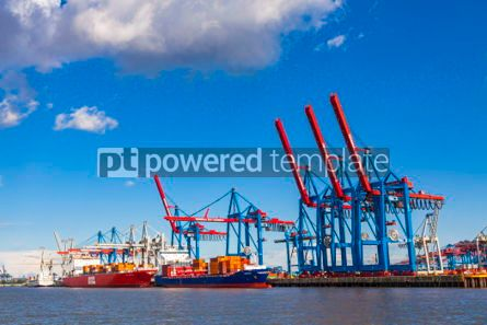 Industrial: Port of Hamburg on the river Elbe Germany #07502