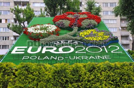 Nature: Logo of UEFA EURO 2012 tournament made from flowers #07516
