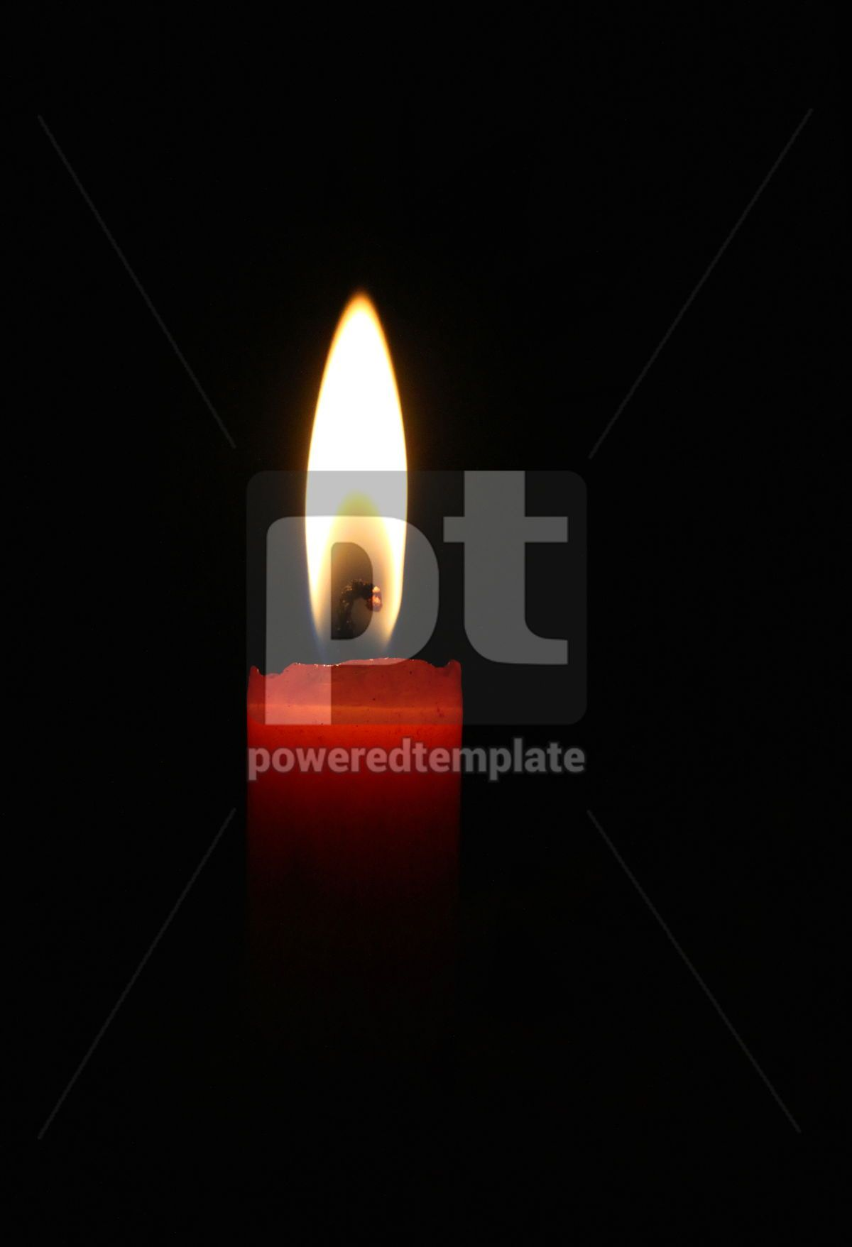 Blazing red candle in the night, 07562, Education — PoweredTemplate.com
