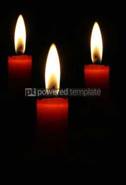 Education: Three blazing candles on a black background #07563
