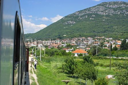 Transportation: Small railway station near City of Bar Montenegro #07569