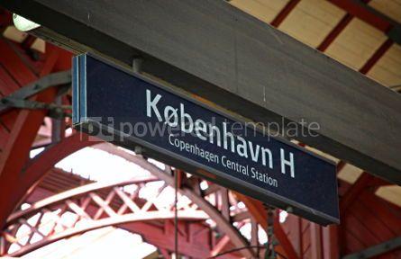 Transportation: Central Railway Station in Copenhagen Denmark #07570