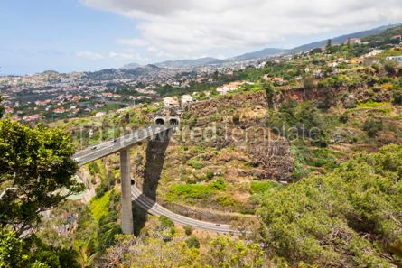 Transportation: Highway roads on Madeira island Portugal #07573