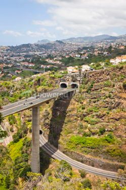 Transportation: Highway roads on Madeira island Portugal #07574