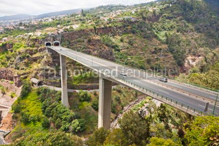 Transportation: Highway roads on Madeira island Portugal #07575