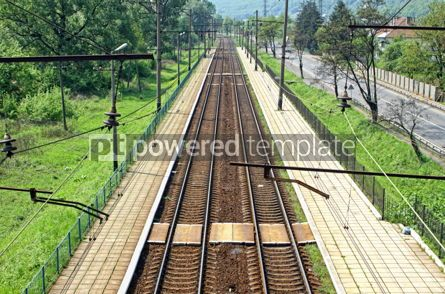 Transportation: Railway tracks and small railway station #07579