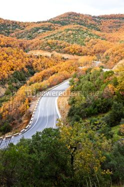 Transportation: Picturesque mountain road at Meteora Rocks #07580