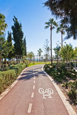 Transportation: Cycle lanes at the Molos park in Limassol Cyprus #07581