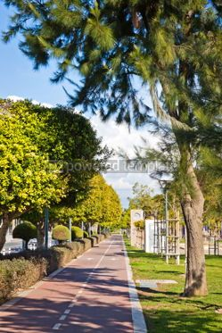 Transportation: Cycle lanes at the Molos park in Limassol Cyprus #07582