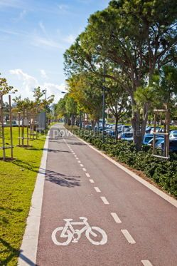 Transportation: Cycle lanes at the Molos park in Limassol Cyprus #07583