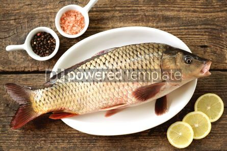 Food & Drink: Fresh live raw carp. Fresh river fish. Wild fish. #07600