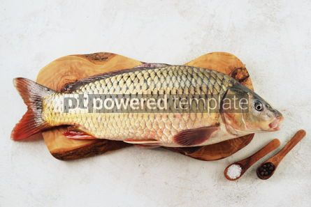Food & Drink: Fresh live raw carp. Fresh river fish. Wild fish. #07602
