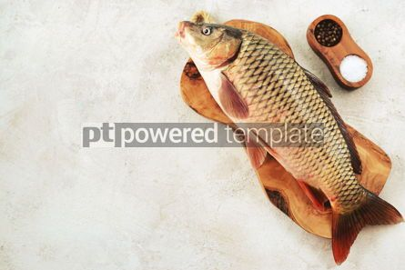 Food & Drink: Fresh live raw carp. Fresh river fish. Wild fish. #07603