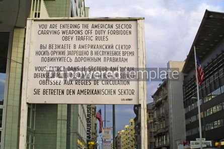 Architecture : US Army CheckPoint Charlie in Berlin Germany #07645