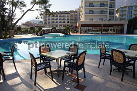 Architecture : Swimming pool and outdoor restaurant at the hotel #07647