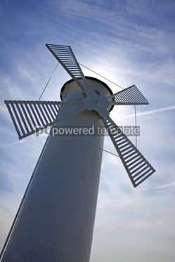 Architecture : White old lighthouse windmill in Swinoujscie Poland #07652