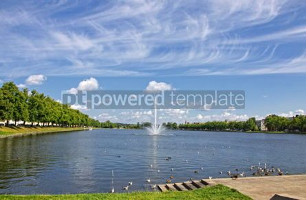 Nature: Pfaffenteich lake and Schwerin city Germany #07666