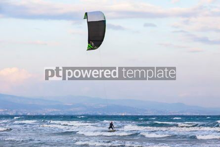 Nature: Kitesurfing on a Lady's Mile beach Limassol Cyprus #07677