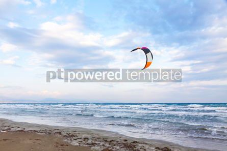 Nature: Kitesurfing on a Lady's Mile beach Limassol Cyprus #07679