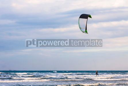 Nature: Kitesurfing on a Lady's Mile beach Limassol Cyprus #07680