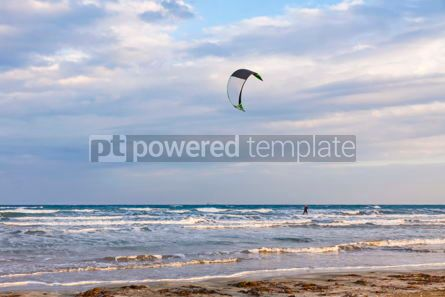 Nature: Kitesurfing on a Lady's Mile beach Limassol Cyprus #07681