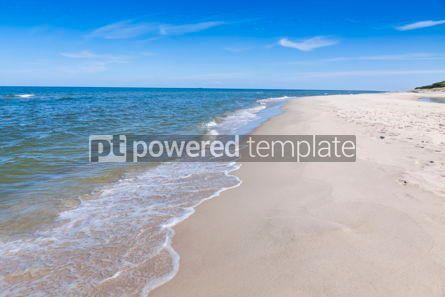 Nature: Sandy beach on Hel Peninsula Baltic sea Poland #07702