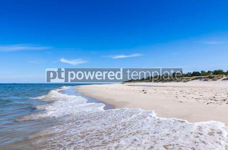 Nature: Sandy beach on Hel Peninsula Baltic sea Poland #07703
