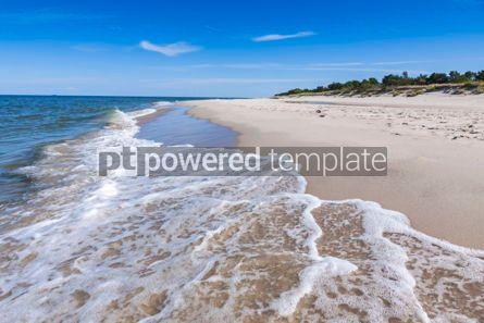 Nature: Sandy beach on Hel Peninsula Baltic sea Poland #07704