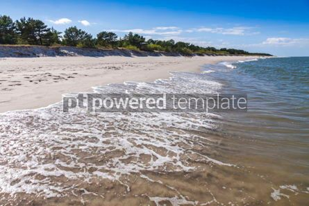 Nature: Sandy beach on Hel Peninsula Baltic sea Poland #07706