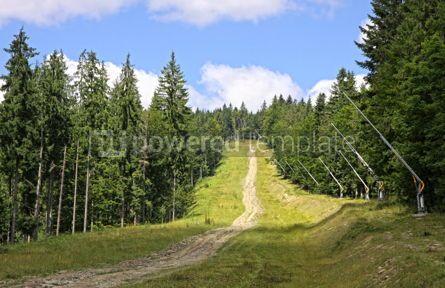 Nature: Bukovel ski resort in summer Carpathians Ukraine #07707