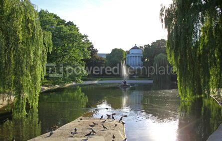 Nature: Saxon Garden - public park in the city center of Warsaw Poland #07708