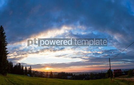 Nature: Sunset over Gubalowka mount Zakopane Poland #07714