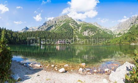 Nature: Panoramic view of Popradske Pleso Tatra mountains Slovakia #07717